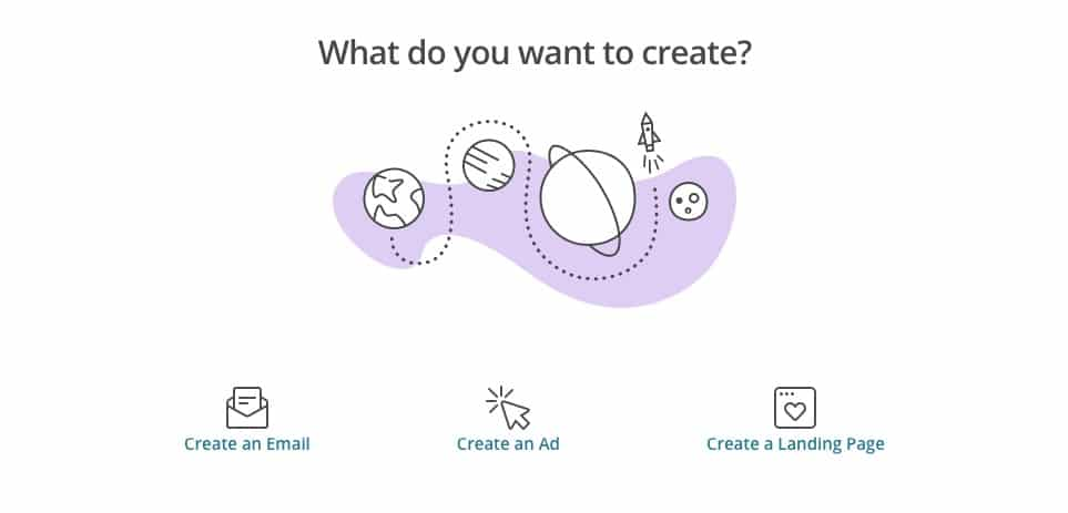 Le diverse opzioni che MailChimp mette a disposizione per la creazione di una campagna