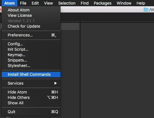 Come installare apm ed eseguirlo nel tuo terminale con Atom