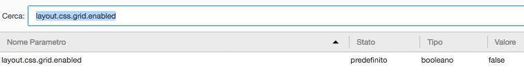Attivare CSS Grid in Firefox