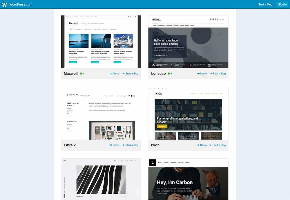 Il layout a carte è una soluzione molto elegante usata anche da WordPress