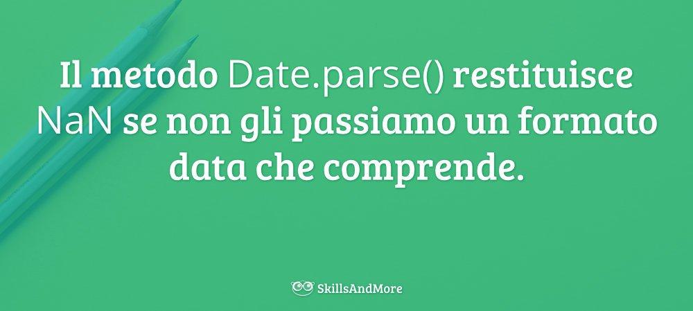 Meglio fornire a Date.parse() una data formattata nel modo corretto