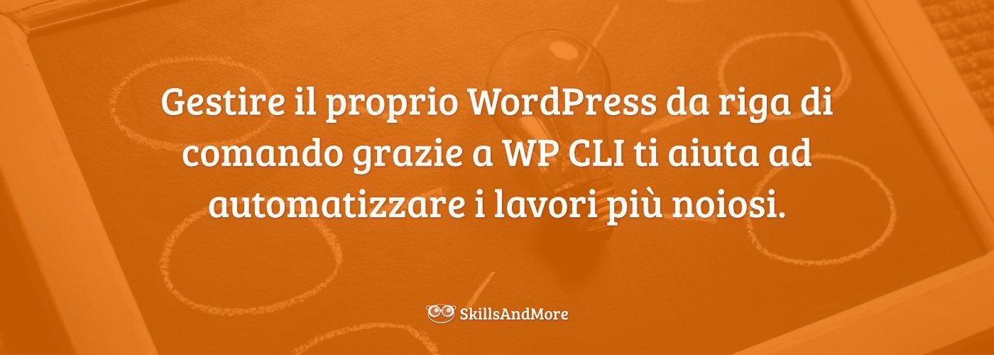 Gestire il proprio WordPress da riga di comando grazie a WP CLI ti aiuta ad automatizzare i lavori più noiosi.